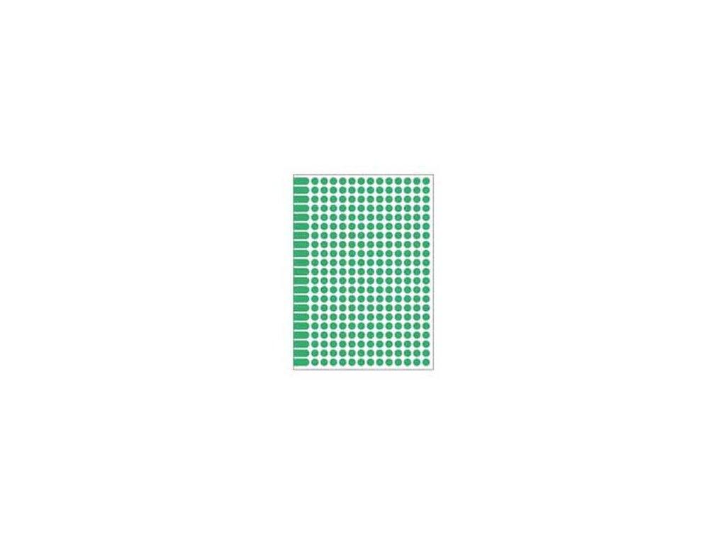 Etikety kruhové 8mm Agipa A5 zelené