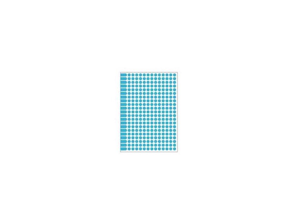 Etikety kruhové 8mm Agipa A5 modré