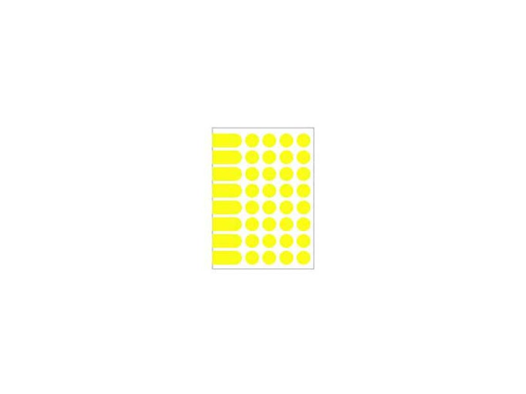 Etikety kruhové 24mm Agipa A5 žlté