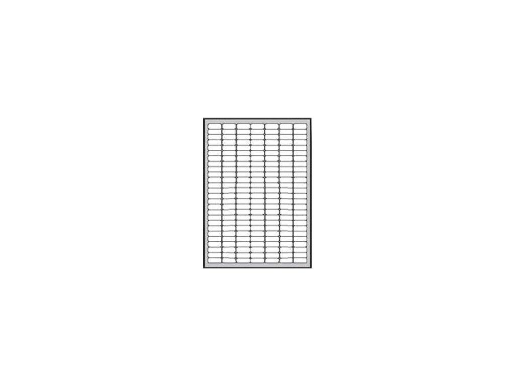 Etikety univerzálne odnímateľné 25,4x10mm Agipa A4 25 hárkov