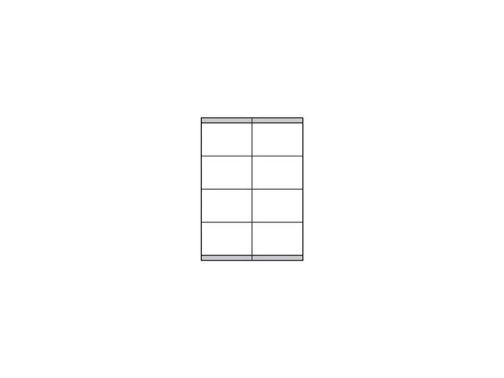 Etikety univerzálne 105x72mm Etibox A4 100 hárkov