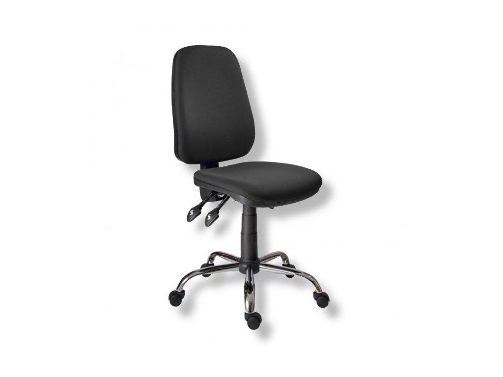 Kancelárska stolička 1140 ASYN C chróm/čierna D02