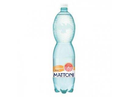Minerálna voda MATTONI ochutená - grepfruit sýtená 6x1,5l