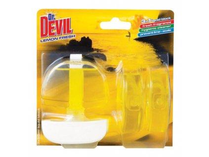 Dr. Devil WC záves gél 3 x 55ml Lemon Fresh