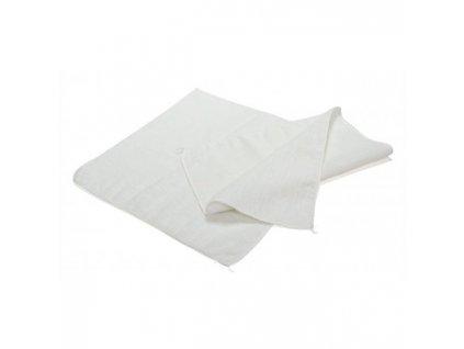 Prachovka tkaná bavlnená biela 35x35cm