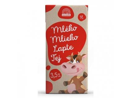 Trvanlivé mlieko Euromilk 3,5% plnotučné 1l