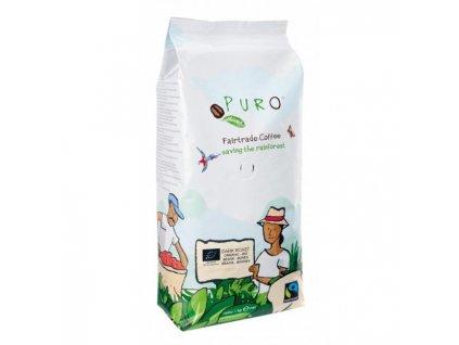 Káva Fairtrade Puro Dark roast zrnková 1kg