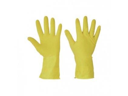 Rukavice latexové STARLING, žlté, veľ. S/S