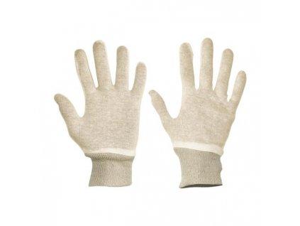 Rukavice bavlnené biele TIT, veľ. 9/L
