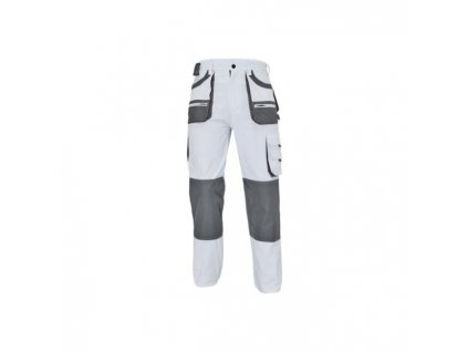 Nohavice do pása FF CARL BE-01-003 biela/sivá č.48