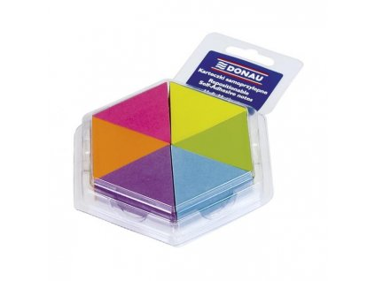 Bloček trojuholník, 6 neonových farieb