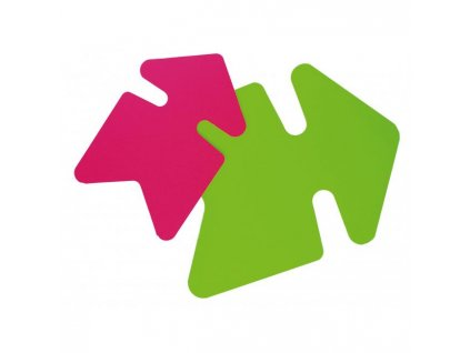 Popisovateľný farebný kartón šípka 24x32cm APLI mix ružová-zelená