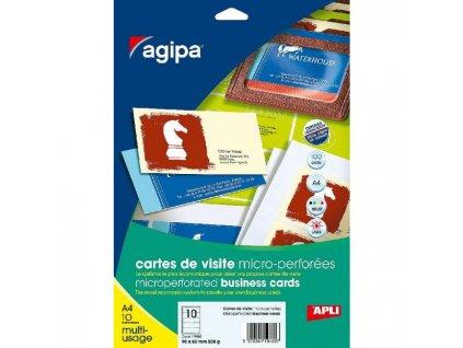Vizitkový papier 90x50,8mm Agipa A4 s mikroperforáciou 200g 50 hárkov