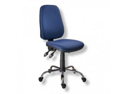 Kancelárska stolička 1140 ASYN C chróm/modrá D04