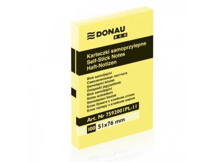 Bloček Donau ECO žltý 51x76mm