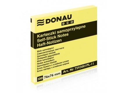 Bloček Donau ECO žltý 76x76mm