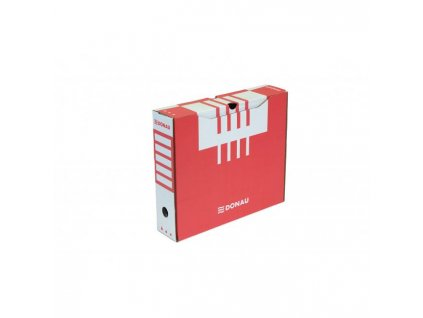 Archívny box DONAU 80mm červený