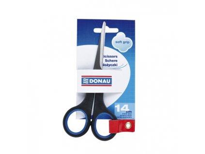 Nožnice DONAU Soft grip 14cm modré