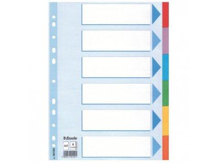 Kartónový rozraďovač Esselte 6-dielny farebný