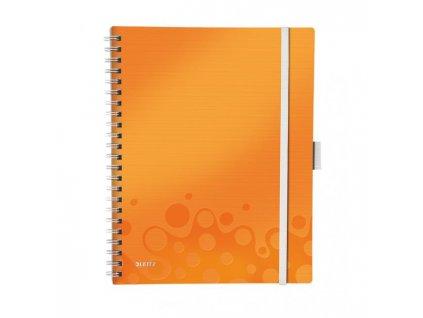 Blok poznámkový štvorčekový mobilný Leitz WOW A4 oranžová