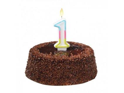 Tortová sviečka číslovka 1