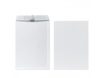 Poštové obálky C4 Herlitz s odtrhávacou páskou, biele, 10 ks