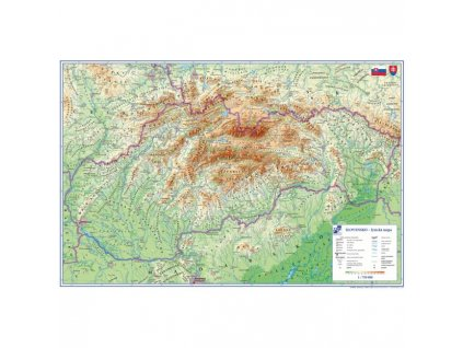 Podložka na stôl KARTON PP s mapou Slovenska 40x60cm