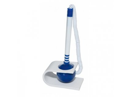 Pero so stojanom Office Products plastové modro-biele