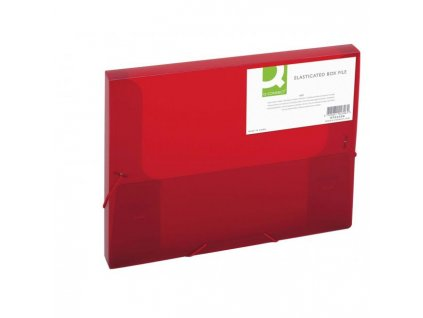Plastový box s gumičkou Q-Connect červený