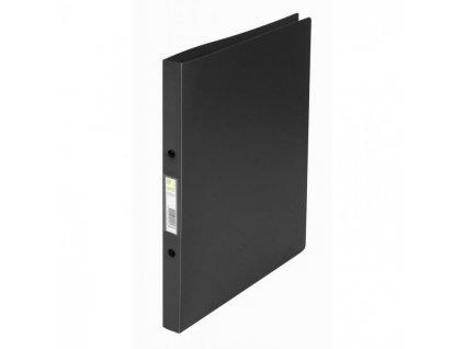 Zakladač 2-krúžkový Q-Connect celoplastový 1,6cm čierny