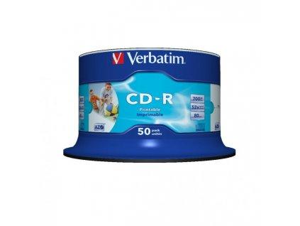 Verbatim CD-R printable cake 50 ks