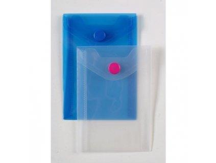 Plastový obal A7 s cvočkom Karton PP modrý