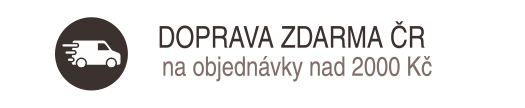 Doprava ZDARNA po celé ČR pro objednávky nad 2000 Kč