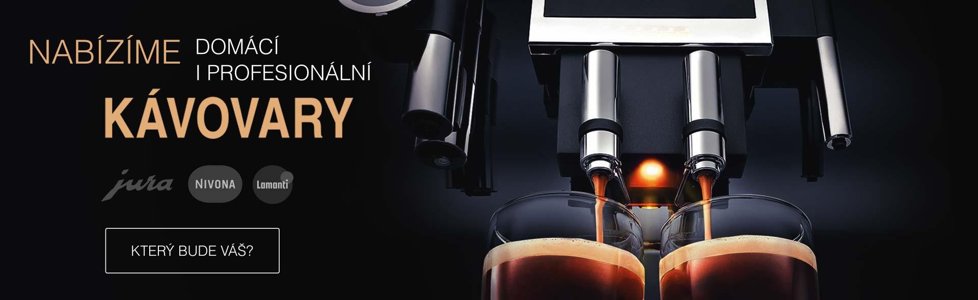 Prodej domácích i profesionálních kávovarů