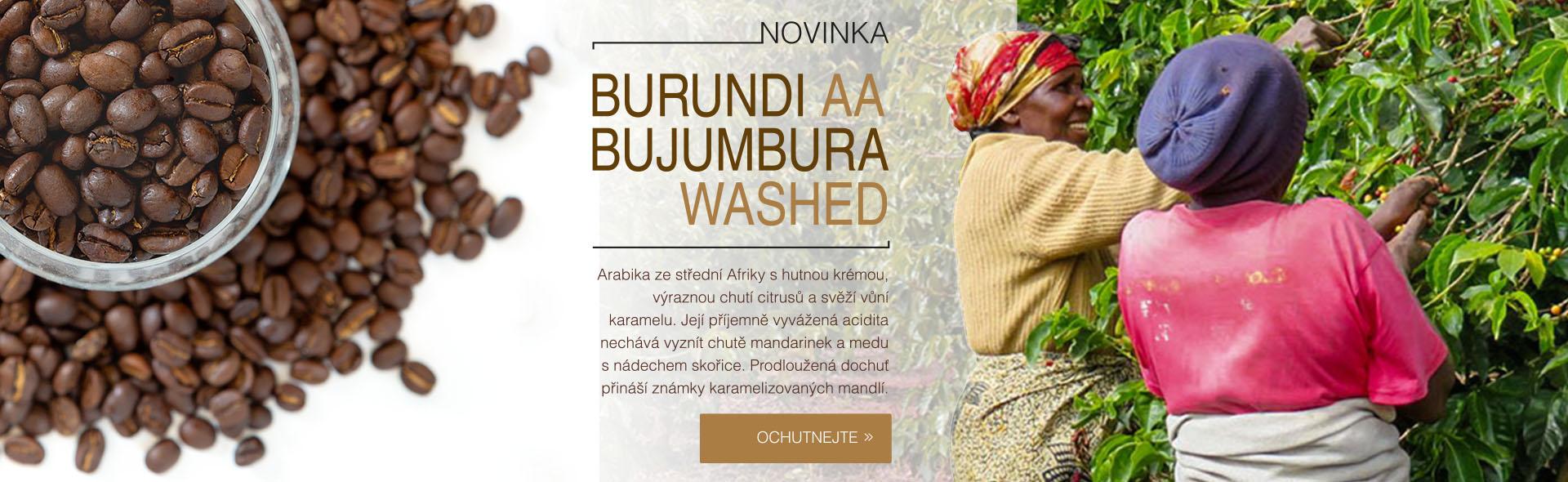 Novinka - káva Burundi AA Bujumbura Washed - 100% Arabica
