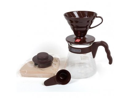 COFFEE NOW SADA HARIO V60 SERVER SET HNEDA 1