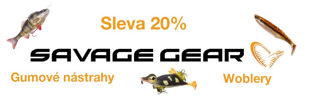 Sleva na woblery a gumové nástrahy Savage Gear 20%!!