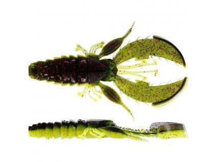 Gumová nástraha Westin CreCraw Creaturebait 10cm Black/Chartreuse (4ks)