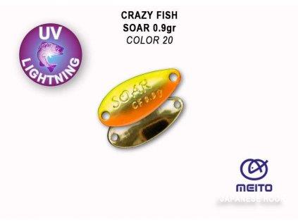 Plandavka Crazy Fish Soar 20 mm 0,9 g color 20