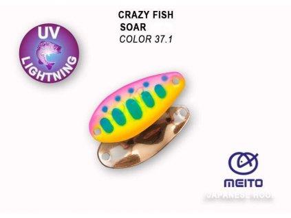 Plandavka Crazy Fish Soar 20 mm 0,9 g color 37.1