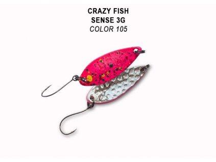 Plandavka Crazy Fish Sense 32 mm 3 g color 105