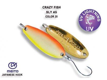 Plandavka Crazy Fish Sly 33 mm 4 g color 20