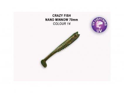 Gumová nástraha Crazy Fish Nano Minnow 9 cm 14 (5 ks)