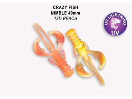 7986 nimble 4cm barva 13d peach baleni 9 kusu