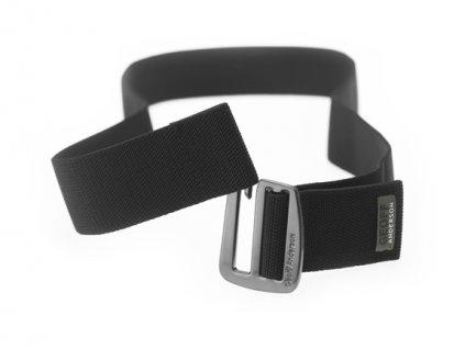 opasek/belt elastický (metal+black) velikost S/M