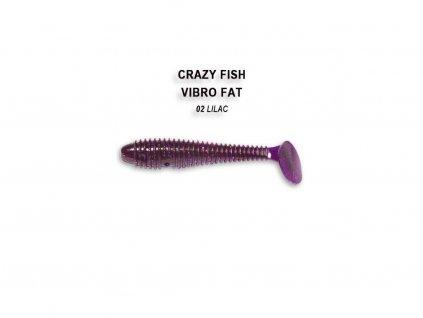 Gumová nástraha Crazy Fish Vibro Fat 7,1 cm 02 Lilac (5 ks)