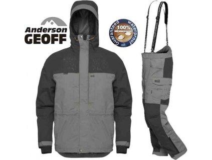 Geoff Anderson barbarus - bunda + kalhoty - šedá šedo-čierna velikost M