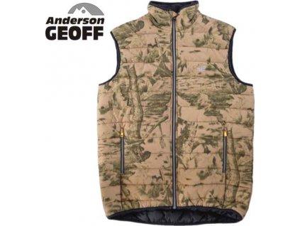 Rybařská vesta Geoff Anderson Dozer Liner Leaf velikost L