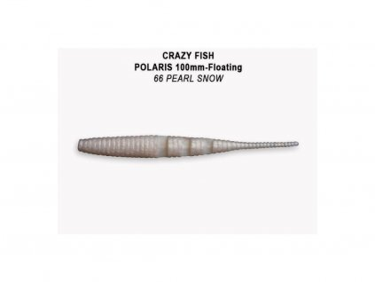 Gumová nástraha Crazy Fish Polaris 10 cm 66 Pearl snow (6 ks)