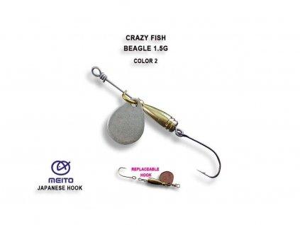 Rotační třpytka Crazy Fish Beagle 1,5 g Color 2